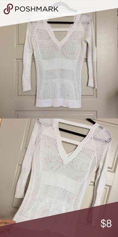 White Cache sweater White cache sweater great condition XS/S.  Cheaper on merc Cache Tops