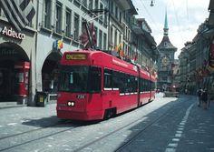Tram. Bern, Switzerland.