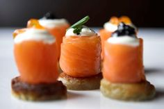 Salmon Canapes, featured on hitched.co.uk
