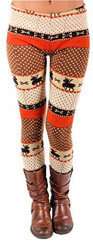 Festive Orange Christmas Reindeer Thick Leggings FunLeggings http://www.amazon.com/dp/B00P634N2C/ref=cm_sw_r_pi_dp_OloOub1FTN5VP