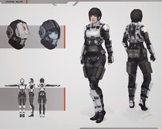 mma suit by - The character in this picture brings to mind Alex's squadmates. I don't think female character armour needs to be over sexualised. Character Concept, Character Art, Concept Art, Character Inspiration, Character Design, Armor Concept, Science Fiction, Sci Fi Mmo, Combat Suit