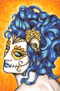 Sugar Skull Victorian Burn Brightly ACEO by ShayneoftheDead, $40.00