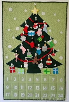 A Bright Corner: Advent Calendar Love the presents under the tree :) a great hanging method in the post too
