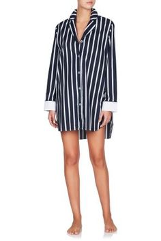 Porto Venere Boyfriend Shirt Cut from soft cotton that's ultra comfortable to sleep in, and patterned with classic navy stripes, this boyfriend shirt is sure to become your loungewear staple. Victoria Secret Pajamas, Cotton Pyjamas, Boyfriend Shirt, Cut Shirts, Navy Stripes, Pajama Set, Lounge Wear, My Style, Long Sleeve