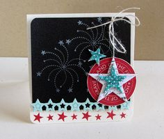 Land Of The Free Card by Danielle Flanders for Papertrey Ink (May 2013)