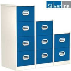 Silverline Two Tone Kontrax Filing Cabinets - Silverline Two Tone Kontrax Filing Cabinet.bringing a fresh look to steel storage. Free UK mainland delivery on Silverline Two Tone Kontrax Filing Cabinets. Filing Cabinets, Storage, Metal, Home Decor, Purse Storage, Decoration Home, Room Decor, Larger, Metals
