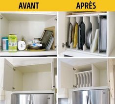 18 Ideas para organizar tu VirgoCasa o tu VirgoCueva Home Organization Hacks, Closet Organization, Kitchen Organization, Kitchen Storage, Organizar Closet, Diy Rangement, Ideas Para Organizar, Drawer Dividers, Open Plan Kitchen