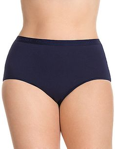 Brief pantygives amazing everyday cotton comfort and a little bit of stretch. Brief silhouette provides maximum coverage and sits at the natural waist with a Cacique logo waistband. A great style choice for all body types!<br /> <br /> Cacique plus size panties lend comfort and beauty to your full figure! For panties in the latest colors & styles, nobody fits you like Cacique. lanebryant.com