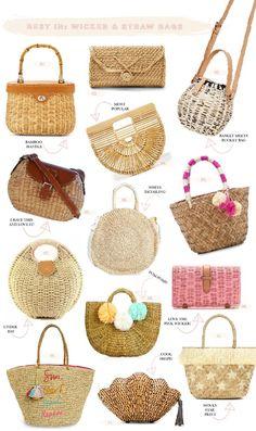 Crochet bag boho shoes ideas for 2019 Clutch Bag, Tote Bag, Fashion Magazin, Bags 2017, Straw Handbags, Straw Tote, Basket Bag, Summer Bags, Handmade Bags