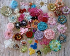 JUST EMBELLISHMENTS..DIY baby headbands..Do iT Yourself.Scrap booking.baby hair bows... bow supplies. $7.00, via Etsy.