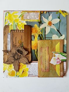 A page of daffodils for a Garden Journal