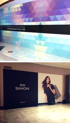 You're not limited to incoming store announcements! Barricade graphics can also promote corporate branding campaigns, like these from Westfield and Simon.