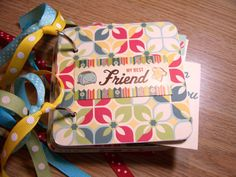 Best Friend Mini Album Chipboard Scrapbook by HampshireRose, $20.00