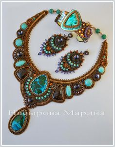 Beautiful embroidered jewellery by Marina Nasyrova | Beads Magic