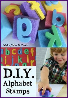 Step-by-step directions for making your own letter stamps! Great for little…