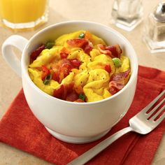 Omelet in a Cup Recipe Land O'Lakes, AtHome High Intensity Interval Workout Tone and Tighten, 23 Egg Recipes That Take 20 Minutes or Less . Mug Recipes, Diet Recipes, Cooking Recipes, Healthy Recipes, Easy Cooking, Recipies, Omelette, Dorm Food, College Food