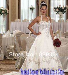 Sexy  Halter Wedding Dresses Plus Size Chapel 2013 Hot Sale $261.99