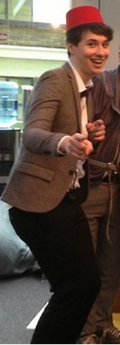 Dan (Danisnotonfire) dressed as the eleventh doctor *deep breathes* what is life... Where should I pin this?!?!?