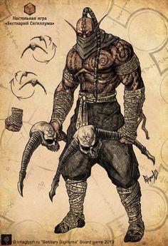 Redux_demon_slayer by GeorgeVostrikov on DeviantArt Fantasy Wizard, Fantasy Monster, Anime Fantasy, Dark Fantasy, Monster Art, Fantasy Art, Character Creation, Character Concept, Character Art