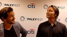 (gif) Hugh Dancy and Mads Mikkelsen ||| Hannibal Cast