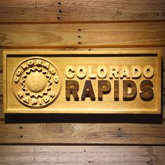 Colorado Rapids Wooden Sign - Legacy Edition