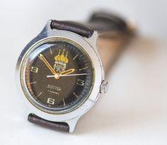 Vintage men's wristwatch Vostok men's watch Rusold by SovietEra