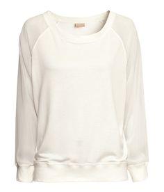 sweater sheer sleeves
