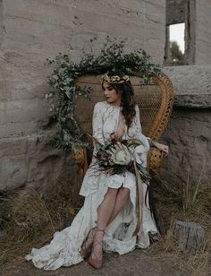 Rue De Seine Dress // intimate elopement in the ruins