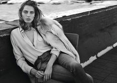 Daria Werbowy by Josh Olins for WSJ September 2014 | The Fashionography