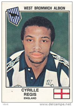 Panini, Euro Football 79 : n° 372, Cyrille Regis, West Bromwich Albion, England, Angleterre