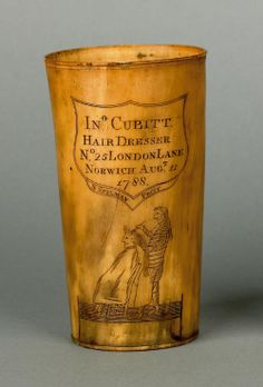 18th c. engraved horn cup dated 1788. google.com