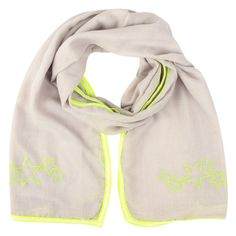 NEW: Metalhead studded NEON summer scarf (grey/yellow)