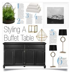 """""""Buffet Table"""" by by-jwp ❤ liked on Polyvore featuring interior, interiors, interior design, home, home decor, interior decorating, Home Decorators Collection, Robert Abbey and Picnic at Ascot"""
