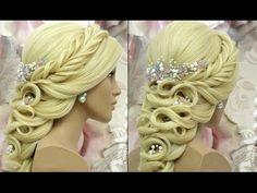 Bridal updo. Wedding prom hairstyle for long medium hair tutorial. - YouTube