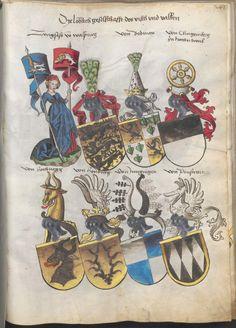 Grünenberg, Konrad: Das Wappenbuch Conrads von Grünenberg, Ritters und Bürgers zu Constanz um 1480 Cgm 145 Folio 246