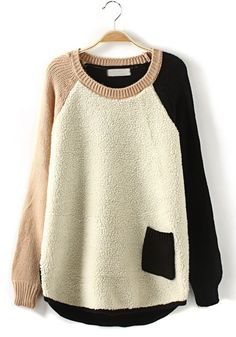 Patchwork Sweater.. great tones.