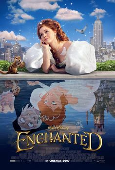 Enchanted Movie Poster Brand new poster in excellent condition. Disney Films, Disney Movie Posters, Walt Disney, Enchanted Movie, Disney Enchanted, Cartoon Movies, Horror Movies, Night Film, Funny Films