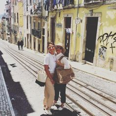 Gorgeous girls from @augusteetcocotte exploring the historic streets of Lisbon with @madeinmada_'s 3xl Alice Bag by their side. All your…