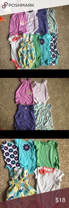 Lot of 10 onesies size 12month Strasbourg bubble cost more than what I'm asking for all! Other brands include Koala Baby, Cat & Jack, Carter's, Gerber, One Pieces Bodysuits