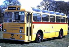 Old Bus Photos - Old bus Photos and informative copy Blue Bus, Bus Driver, Bournemouth, Buses, Transportation, Coaches, Classic Cars, History, Yellow