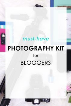 Must-have photography kit for bloggers. Canon Rebel t3i, 50mm f1.4 prime lens, external hard drive, colorful props, tripod, backdrops and more! Find out more on xfallenmoon.com!
