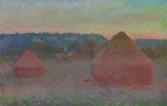 Claude Monet  French, 1840-1926, Stacks of Wheat (End of Day, Autumn)  rural?