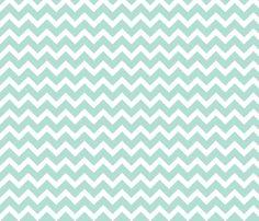 Mint Chevron fabric by jenniferstuartdesign on Spoonflower - custom fabric