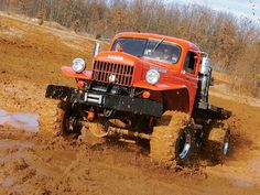 Dodge Power Wagon red truck mudder not a ram though