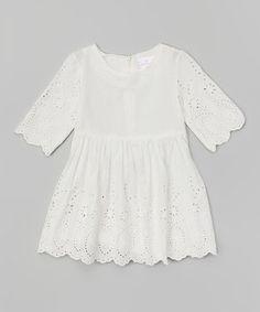 Take a look at this White Eyelet Dress - Toddler