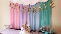 [Holidays and events]Unicorn Birthday Party background Streamer Party Decorations, Streamer Backdrop, Birthday Party Decorations, Party Themes, Ideas Party, Backdrop Ideas, Photo Backdrops, Birthday Streamers, Party Streamers
