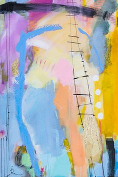 Abstrakt NON-figurativt maleri av Ira Ivanova og Youri Ivanov fra Jouris Kunst. Store formater med akryl på lerret.