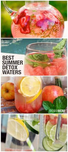 Stay cool this summer with Skinny Mom's detox water recipes!