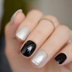 #FrenchManicureGelNails Short Nail Designs, Fall Nail Designs, Shellac Designs, Cute Nails, My Nails, Cute Shellac Nails, French Manicure Gel Nails, Cute Simple Nails, Black Manicure