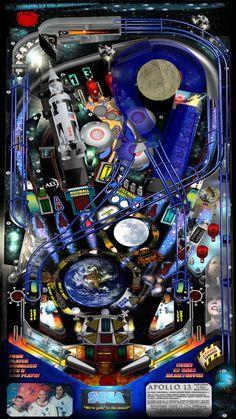 Apollo 13, Sega pinballs, 1995 V Games, Arcade Games, Pinball Games, Antique Toys, Vintage Toys, Flipper Pinball, Video Game Music, Video Games, Marble Machine